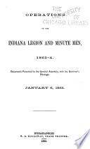 Operations of the Indiana Legion and Minute Men  1863 4 Book PDF