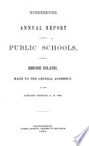 Report on the Condition and Improvement of the Public Schools of Rhode Island