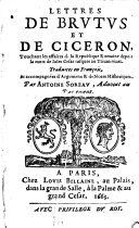 Lettres de Brutus et de Ciceron
