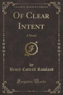 Of Clear Intent