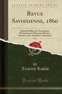 Revue Savoisienne, 1860, Vol. 1