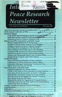 International Peace Research Newsletter