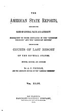 The American State Reports