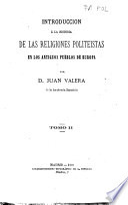 Introducción a la historia de las religiones politeistas en los antiguos pueblos de Europa
