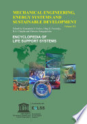 MECHANICAL ENGINEERING  ENERGY SYSTEMS AND SUSTAINABLE DEVELOPMENT  Volume III