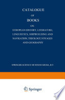 Catalogue Of Books On European History Literature Linguistics Shipbuilding And Navigation Theology Voyages And Geography