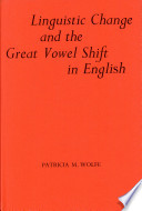 Linguistic Change and the Great Vowel Shift in English Book