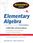 Schaum's Outline of Elementary Algebra, 3ed