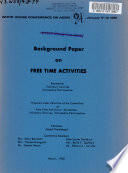 Background Paper on Free Time Activities Book