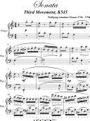 Sonata in C Major K545 Third Movement Elementary Piano Sheet Music