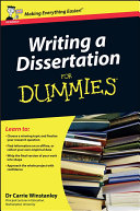 Writing a Dissertation For Dummies [Pdf/ePub] eBook