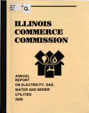 Annual Report on Electricity  Gas  Water  and Sewer Utilities