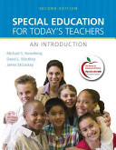 Cover of Special Education for Today's Teachers