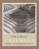 Thomas Calculus Early Transcendentals Part One [Pdf/ePub] eBook