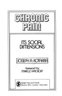 Chronic pain: its social dimensions