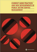 Current Good Practices and New Developments in Public Sector Service Management