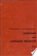 Proceedings On The Conference On Language And Language Behavior
