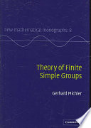 Theory Of Finite Simple Groups Book PDF