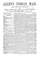 Allen s Indian mail and register of intelligence for British and foreign India