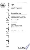 L S A List Of C F R Sections Affected