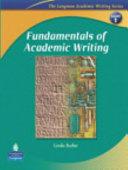 Fundamentals of Academic Writing Book  Con Espansione Online  Per Le Scuole Superiori