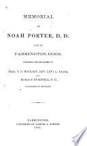 Memorial of Noah Porter, D.D.