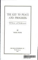 Pdf The Key to Peace and Progress