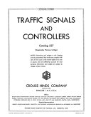 Traffic Signals And Controllers Catalog
