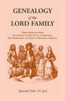 Genealogy of the Lord Family