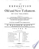 An Exposition Of The Old And New Testament In Six Volumes By Mattew Henry Vol 1 6
