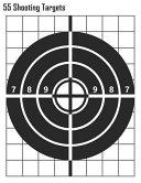 55 Shooting Targets  Bullseye 2 Shooting Targets