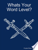 Whats Your Word Level  Book