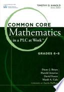 Common Core Mathematics in a PLC at Work    Grades 6 8 Book