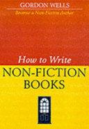 How to Write Non-fiction Books