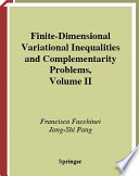 Finite Dimensional Variational Inequalities and Complementarity Problems