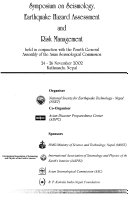 Symposium on Seismology  Earthquake Hazard Assessment  and Risk Management Book