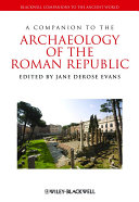 Pdf A Companion to the Archaeology of the Roman Republic Telecharger