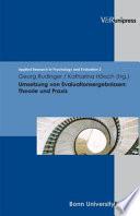 Umsetzung von Evaluationsergebnissen  : Theorie und Praxis