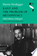 Kant And The Problem Of Metaphysics Book PDF
