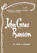 John Crowe Ransom Books, John Crowe Ransom poetry book