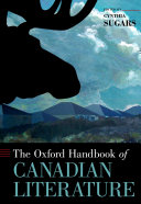 The Oxford Handbook of Canadian Literature
