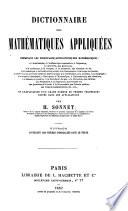 Dictionnaire des Mathématiques appliquées, etc