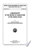 A Bibliography of the History of Agriculture in the United States Book