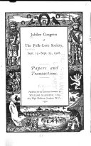 Jubilee Congress of the Folk lore Society  Sept  19 Sept  25  1928