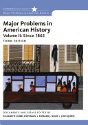 Major Problems in American History  Volume II