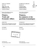 Minutes of Proceedings and Evidence of the Standing Committee on Finance, Trade and Economic Affairs