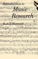 Introduction to Music Research