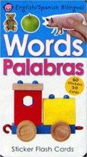 Bilingual Sticker Flash Cards Words