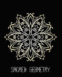 Sacred Geometry  Golden Filigree Mandala Art Journal Cover  Cornell Lined Notebook   Geometric Design for Yoga  Meditation  Dream Diary