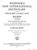 Webster s New International Dictionary of the English Language